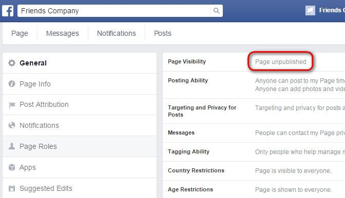 unpublished-facebook-page