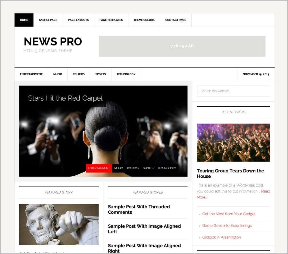 newspro-genesis-child-theme