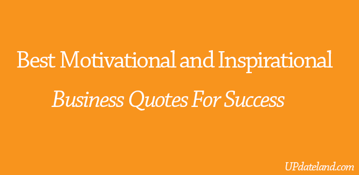best inspirational business quotes