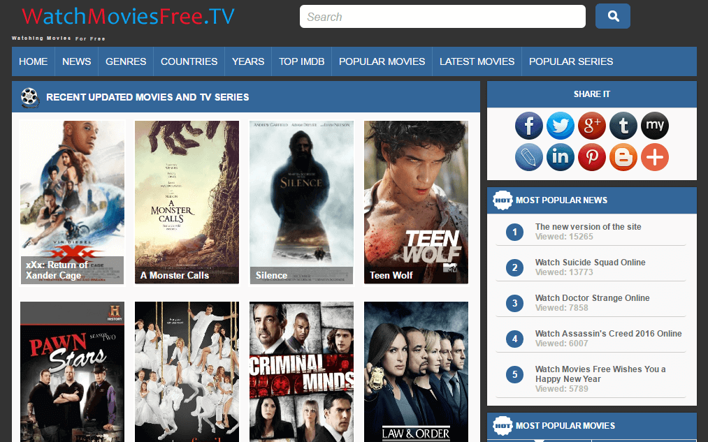 + Free Movie Streaming Sites (Watch Movies Online
