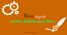 Top Best Free High PR Article Submission Sites List