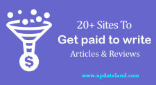 20+ Sites to Get Paid to Write Articles and Reviews Online