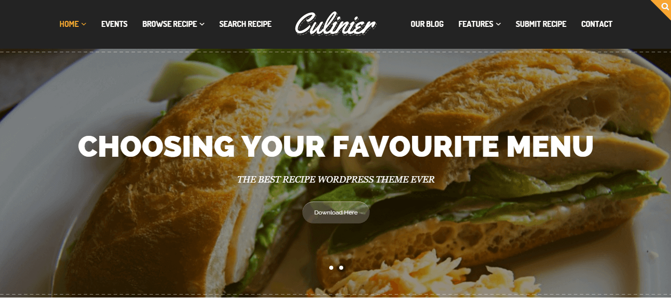 Culinier-food-wordpress-theme