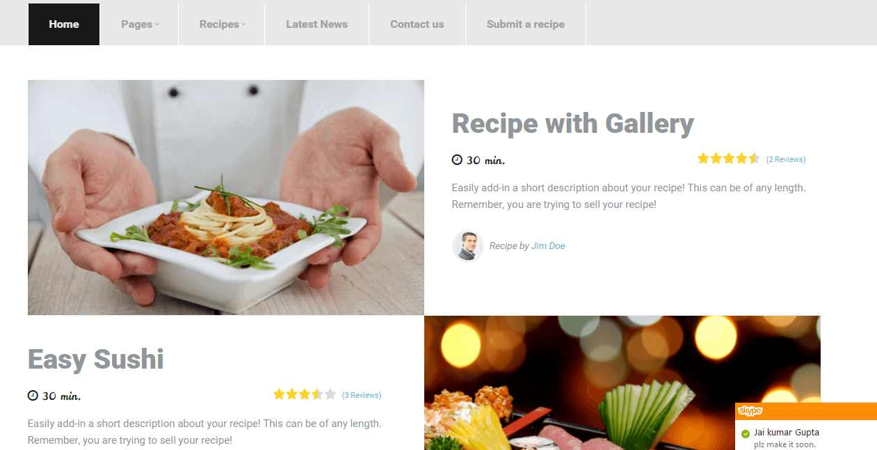Tesila-food-wordpress-theme