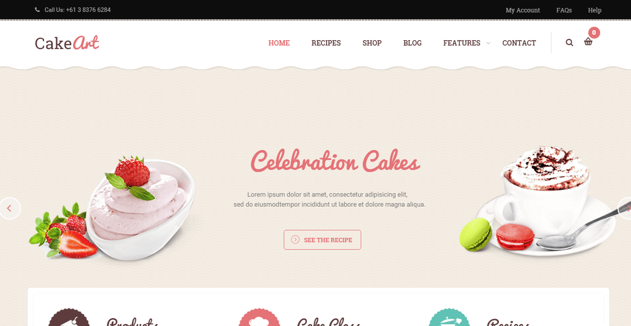 cakeart-wordpress-food-theme