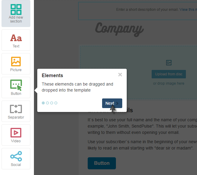SendPulse-drag-drop-template-editor