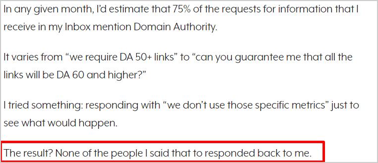 importance of DA