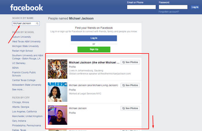Facebook without login search 4 Easiest