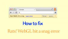 Rats WebGL Hit A Snag Error