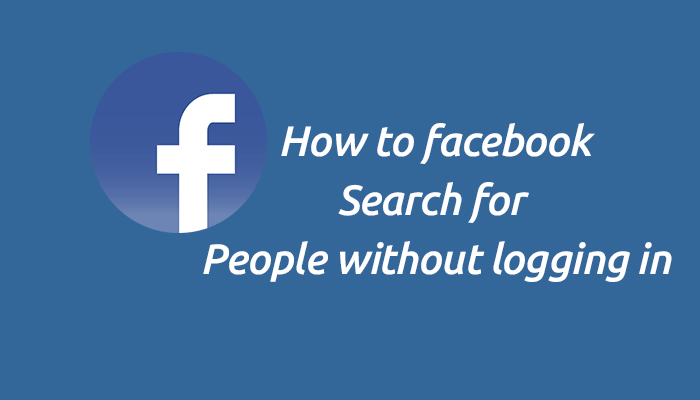 Facebook Search for People Without Logging In
