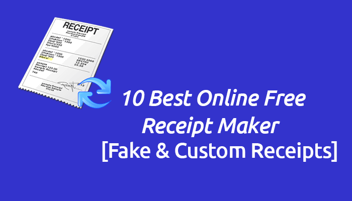 online sales receipt maker