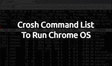 crosh commands
