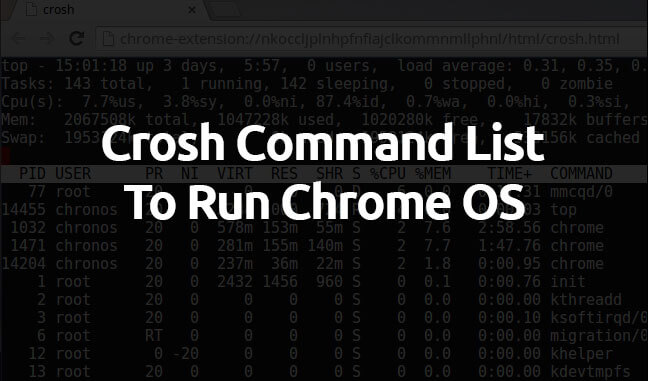 crosh commands