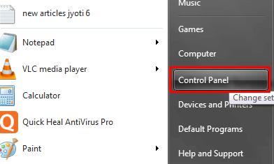 Control Panel