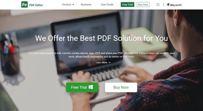 iSkysoft PDF Editor
