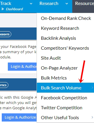 Bulk search volume