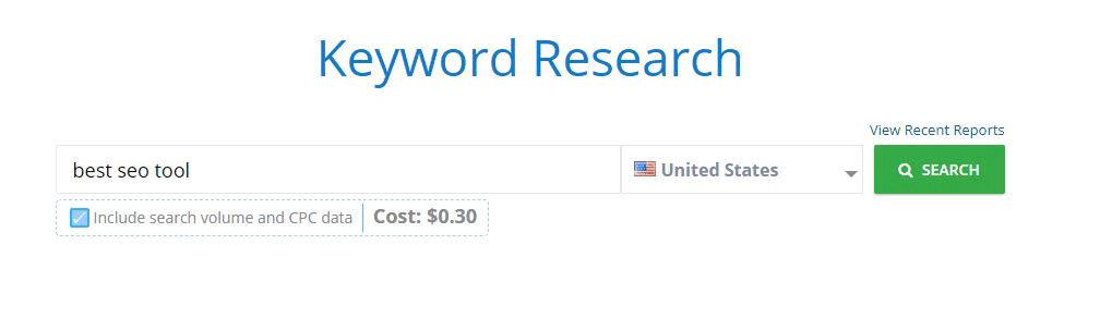 Keyword Research mondovo tool