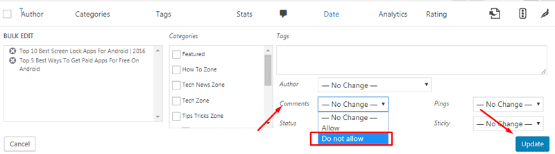 turn off comments in wordpress