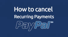 how to cancel recurring payments paypal