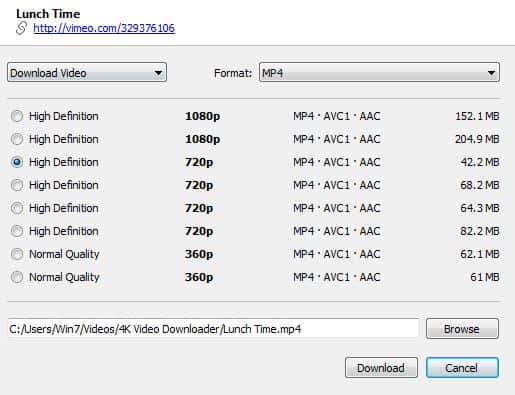 4k Video Downloader Video Qualities