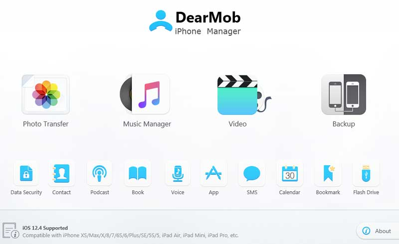 DearMob User Interface