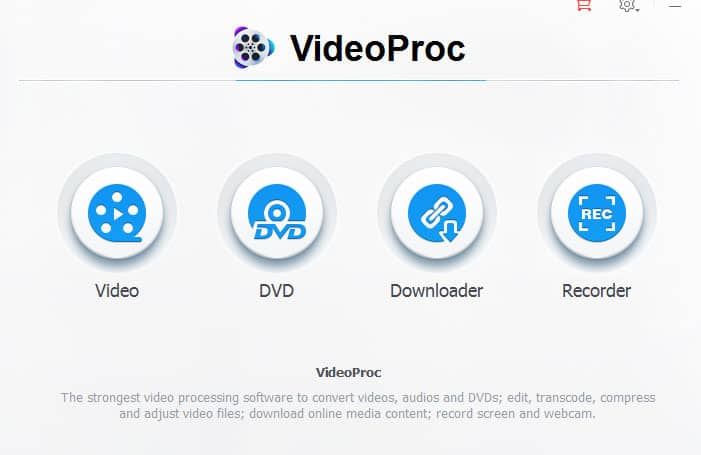 VideoProc User Interface