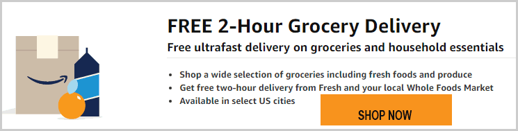 Free 2 Hour Grocery Delivery