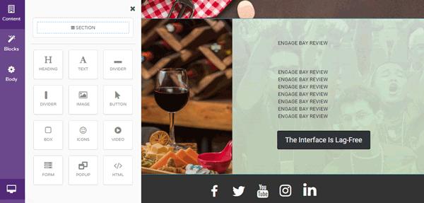 EngageBay landing page templates