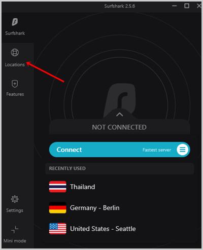 SurfShark VPN Server Locations