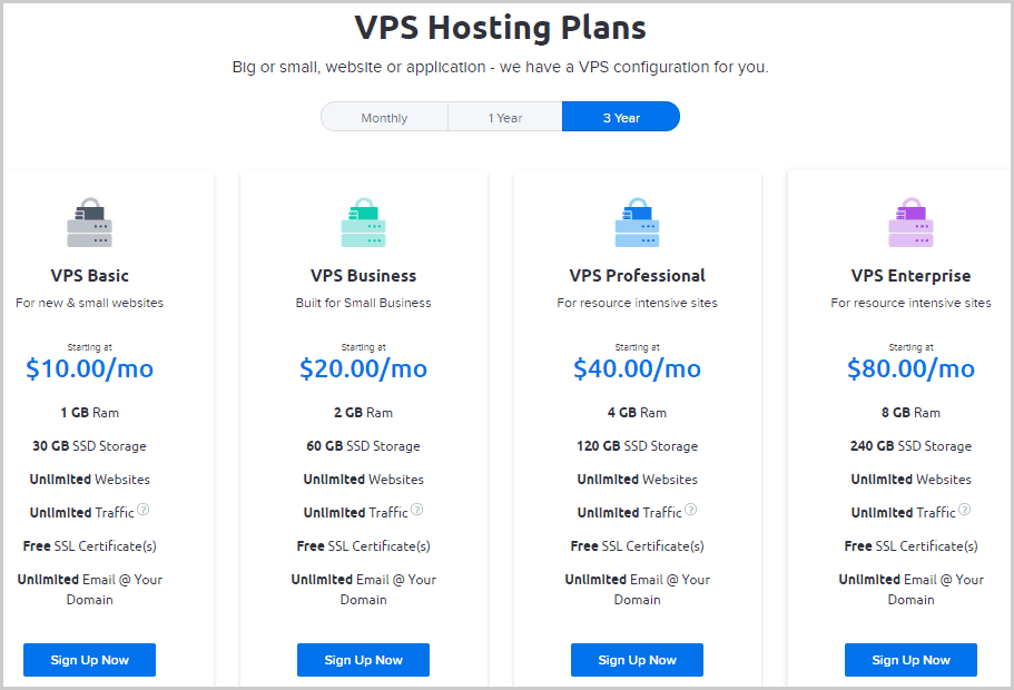 DreamHost VPS Hosting Plans