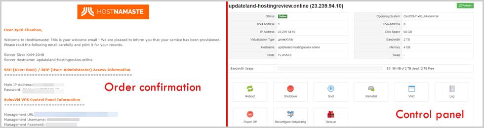 Hostnamaste VPS Server