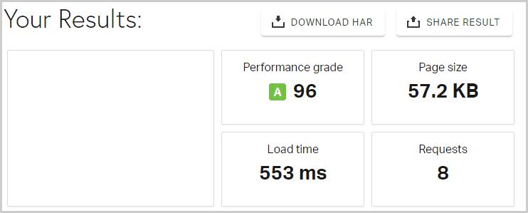 Speed Test Result Screenshot