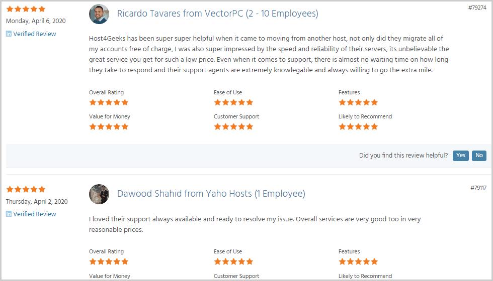 Host4geeks Serchen reviews