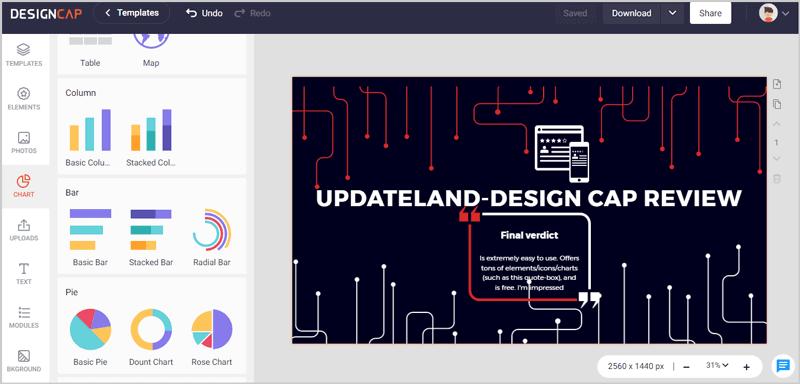 DesignCap editing interface