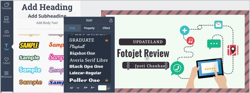 FotoJet Drag Drop Editing interface