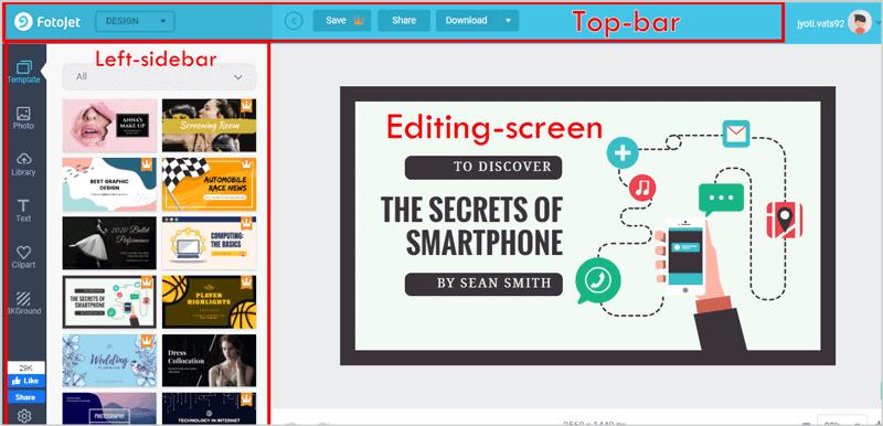 FotoJet editing interface