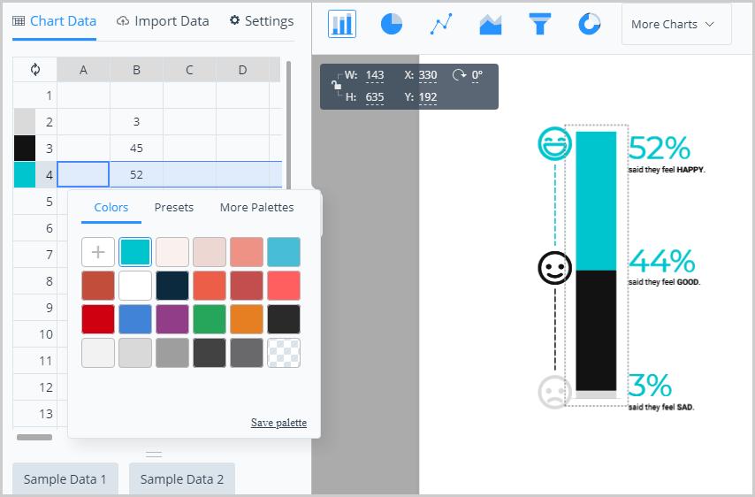 Visme Charts Elements