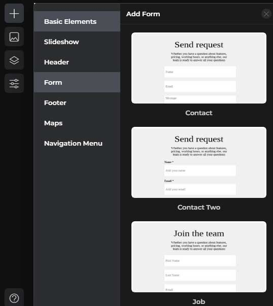 Add form with Boxmode