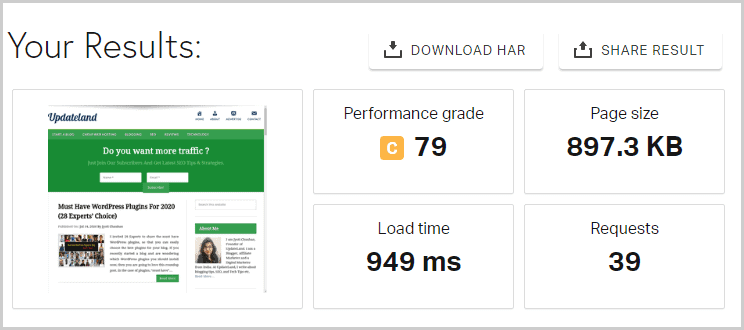 Namecheap hosting page load time tests