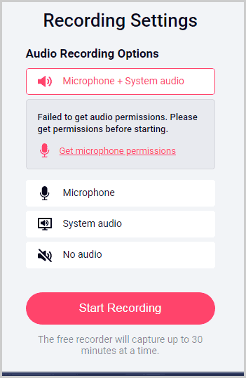 Recordcast Advanced audio capture