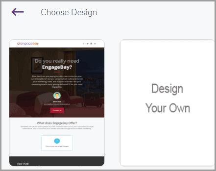 Creating proposals using EngageBay