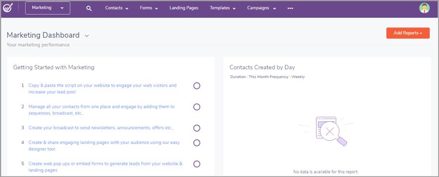 EngageBay User Interface