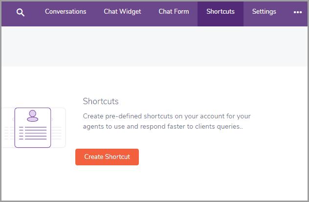 create shortcut at Engagebay