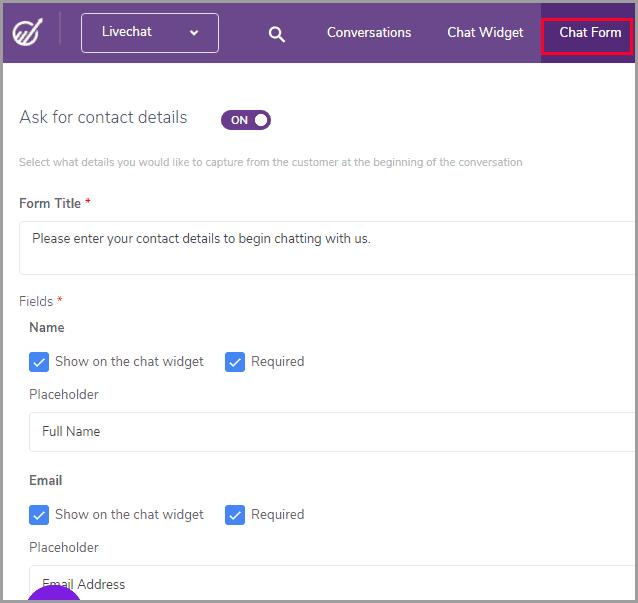 Engagebay chat widget