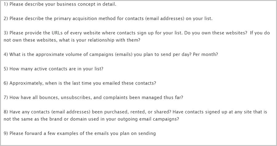 ActiveCampaign signup questions