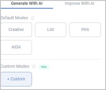 Anyword creation modes