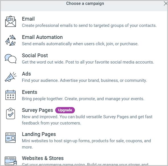ConstantContact features