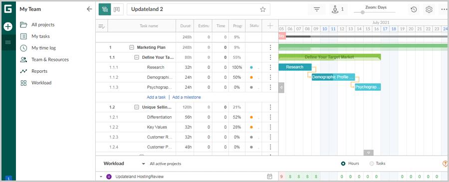 GanttPro User Interface