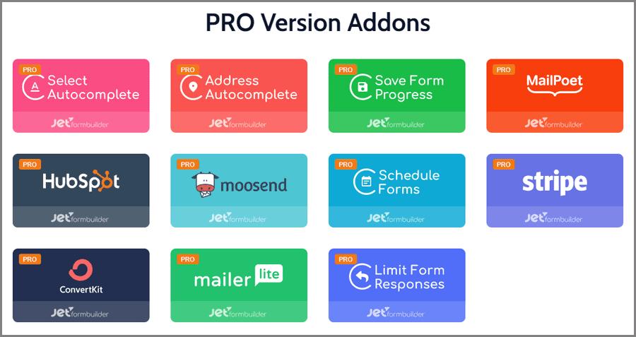 JetFormBuilder pro addons