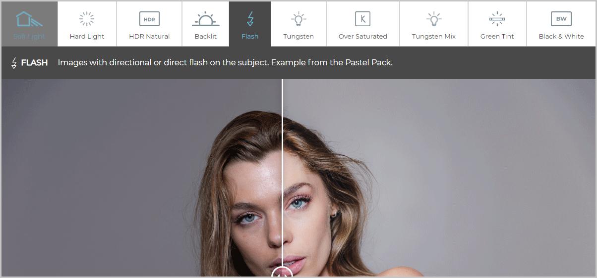 visual flow presets lightening detection